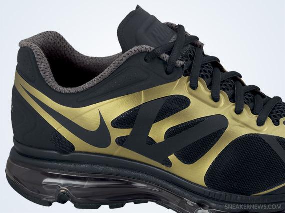 Nike Air Max+ 2012 Black Metallic Gold