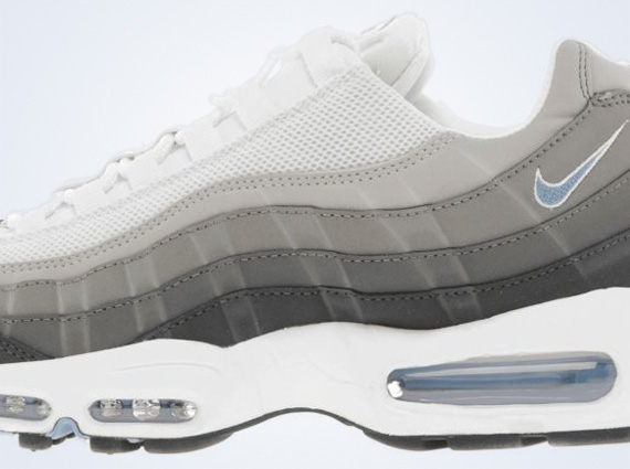 lowest price 11fca d9b6a Nike Air Max 95 - White - Grey - University Blue ...