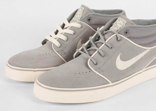 Nike SB Zoom Stefan Janoski Mid – Medium Grey – Chalk