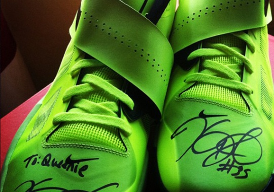 Nike Zoom KD IV – Autographed Pair For Queenie