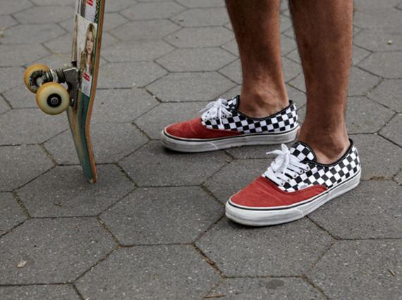 Vans Era Checkerboard On Feet