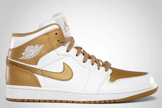 nike air jordan 1 phat white metallic gold