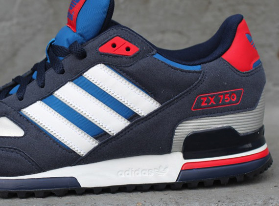 release date: 5a50a e612b adidas Originals ZX 750 - Blue - White - Red - SneakerNews.com