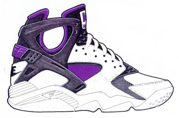Monarca Gracias Corrección  20 Years Of Nike Basketball Design: Air Flight Huarache (1992) -  SneakerNews.com