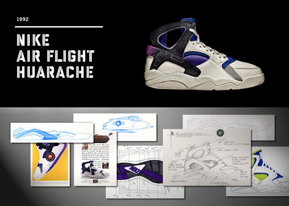 20 Years Of Nike Basketball Design: Air Flight Huarache (1992 ...