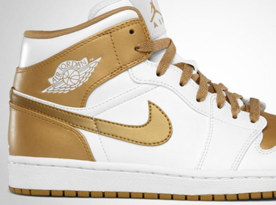 Air Jordan 1 Phat – White – Metallic Gold