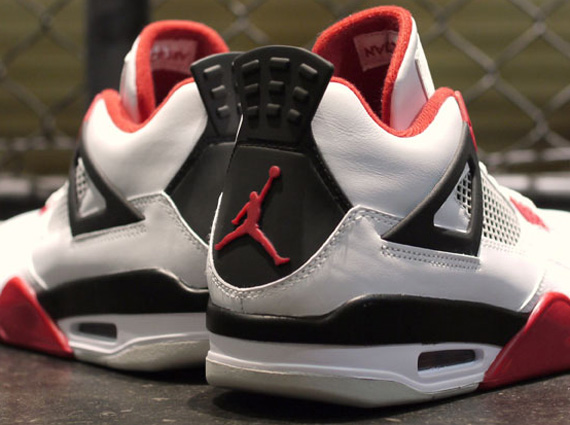 air jordan 4 white red