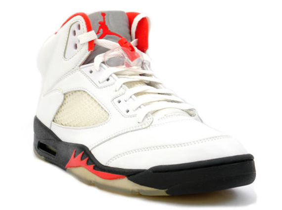 low priced 4be6a bc5d7 Air Jordan V - White - Black - Fire Red   Release Date - SneakerNews.com