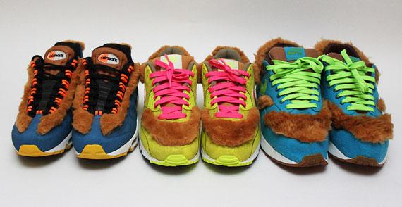 """100% authentic 8d65c f75bd Nike Air Max """"3 Bears"""" by Kike. –. Nike Air Force 180 High Pump """"Murder""""  Customs ..."""