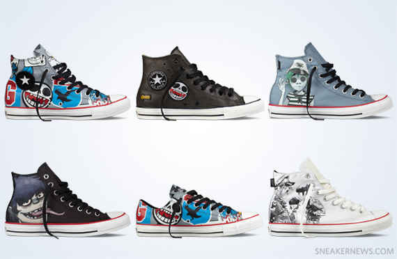 cheap for discount eab12 3e5b9 Gorillaz x Converse Chuck Taylor – Fall 2012 Collection