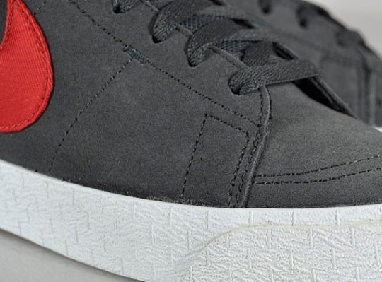 Nike Blazer Mid LR – Anthracite – Gym Red