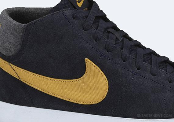 Nike Blazer Feuille Dor Noir Obsidienne