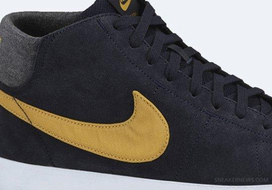 Nike Blazer Mid LR – Dark Obsidian – Dark Gold Leaf