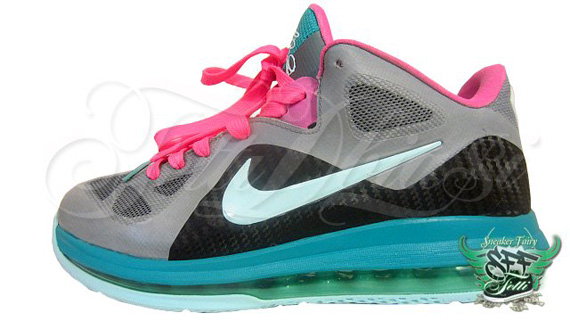 e40b1fad32a2 80%OFF Nike LeBron 9 Low quotMiami Vice Elitequot Customs By Fetti D Biasi