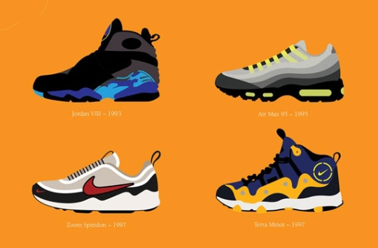 The Best Nike Sneakers By Decade by Stephen Cheetham