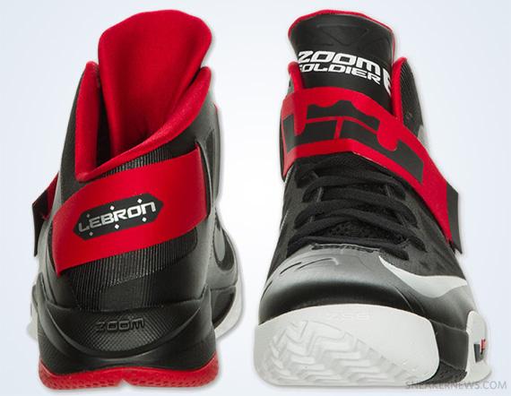 size 40 c5ff5 62478 Nike Zoom LeBron Soldier VI - Black - Red - White ...