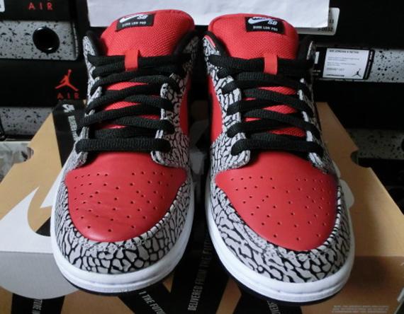 Supreme X Nike Sb Dunk Low Cemento Nero qFr6v