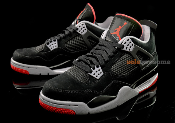 air jordan 4 black white