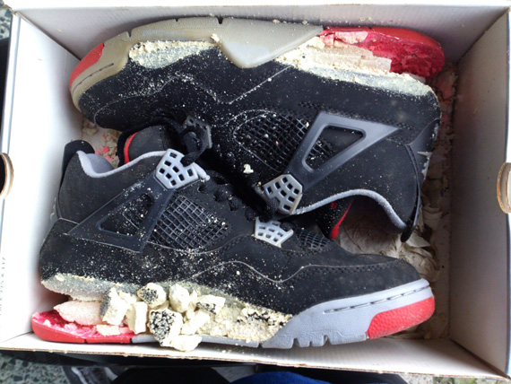 air jordan iv quotbredquot 1999 retro dissolved sneakernewscom