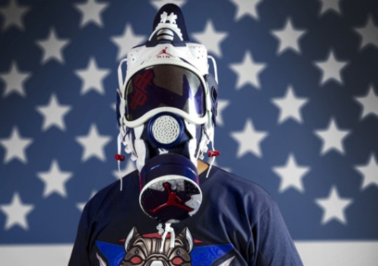 "Air Jordan VI ""Olympic"" Gas Mask By Freehand Profit"