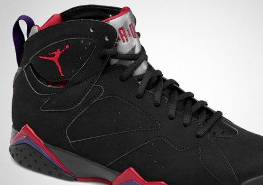 Air Jordan VII – Black – True Red – Dark Charcoal – Club Purple | Official Images