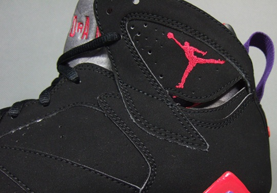 "Air Jordan VII ""Raptors"" – Black – True Red – Dark Charcoal – Club Purple"