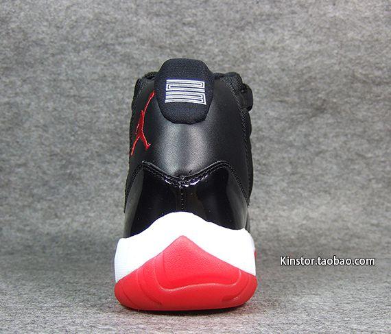 Air Jordan 11 Negro / Equipo Universitario Rojo-blanco uXv9ruLD