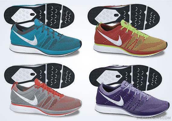 online store 6add8 67482 Advertisement. Ten colorways of the Nike Flyknit ...