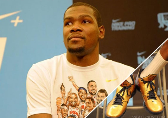 """Kevin Durant in Nike Zoom KD IV """"Gold Medal"""""""