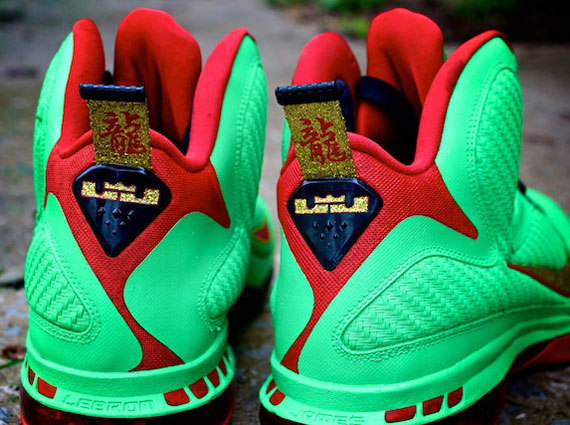 purchase cheap bfce3 9ddff Advertisement. A  Year of the Dragon  custom of the LeBron 9 ...