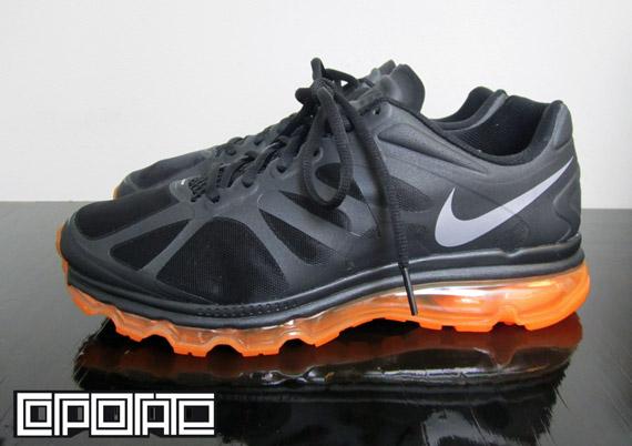 nike air max 2012 black total orange sneakernewscom