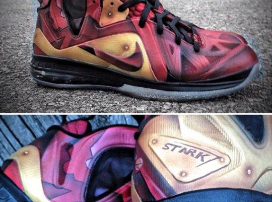 "Nike LeBron 9 Elite ""Tony Stark"" Customs by Mache"