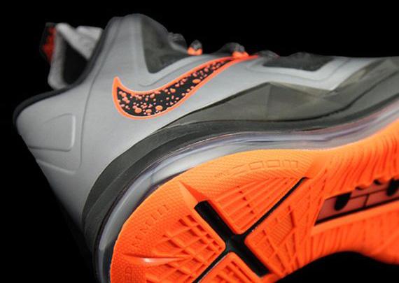 size 40 c2b2f 980ed Nike LeBron X – Silver – Orange
