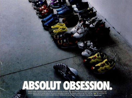 "Absolut Vodka ""Obsession"" Sneaker Ad"