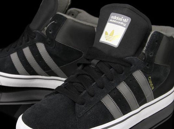 adidas Skate Campus Vulc Mid - Black - Cinder - SneakerNews.com 81cde35d215d