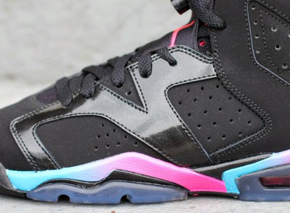pretty nice 22fcc 0cf10 Air Jordan VI GS - Pink Flash Marina Blue - Available - SneakerNews.com