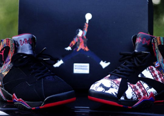 """Air Jordan VII """"A Different World"""" Customs by Rocket Boy Nift"""
