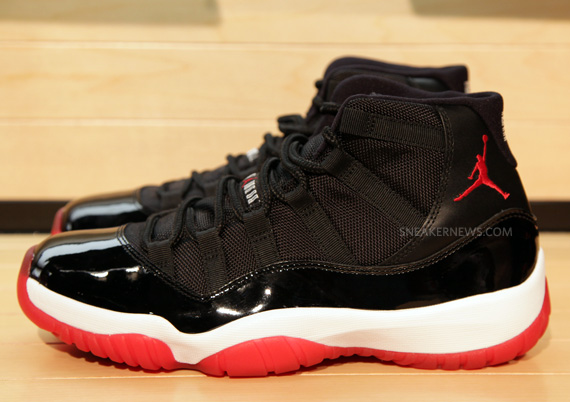 air jordan 11 black red