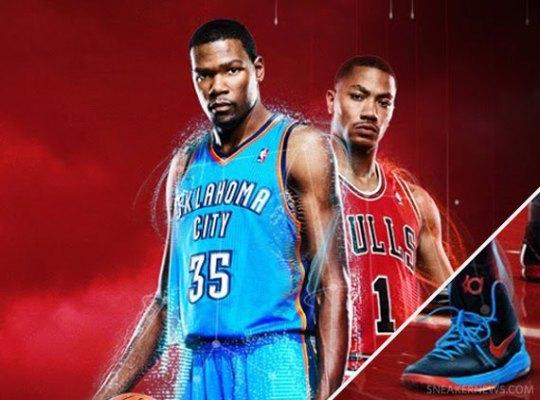 Kevin Durant in Nike Zoom KD V in NBA 2K13 Promo