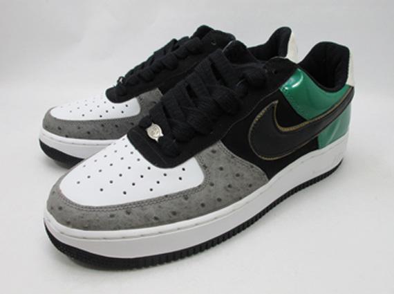 mita x Nike Air Force 1 Low Black Black White Forest 307334 001 2004 Photos