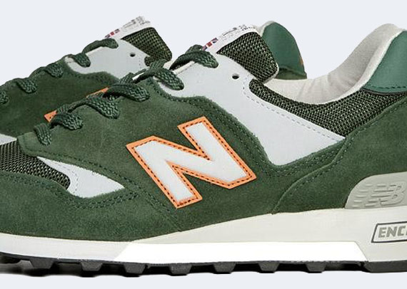 new balance 577 green orange