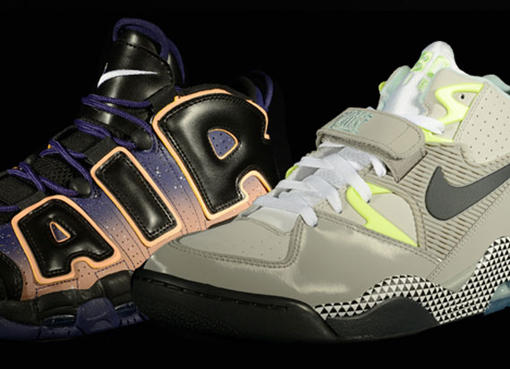 """more photos 60f46 a9aa7 ... """"Dawn to Dusk"""" Pack – Foot Nike Air More Uptempo + Air Force 180 ..."""