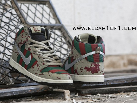 tracteur tom playlist - Nike Dunk High \u0026quot;Freddy Krueger\u0026quot; Customs By El Cappy - SneakerNews.com