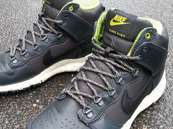 official photos 99551 4702e Nike Dunk High OMS - Anthracite - Atomic Green - SneakerNews.com