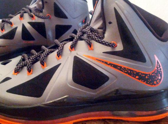 c16ef5247b2 Nike LeBron X - Silver - Orange - Black - SneakerNews.com