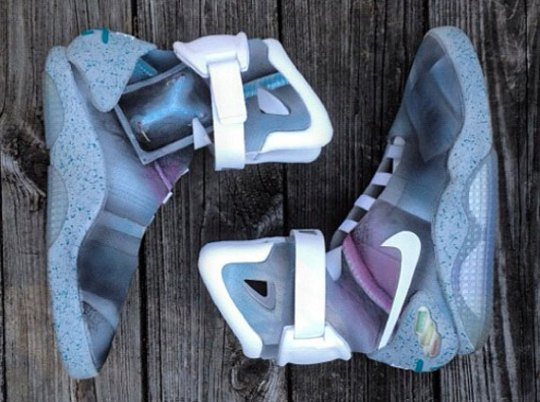 """Nike Mag """"Flux Capacitor"""" Customs by Mache"""