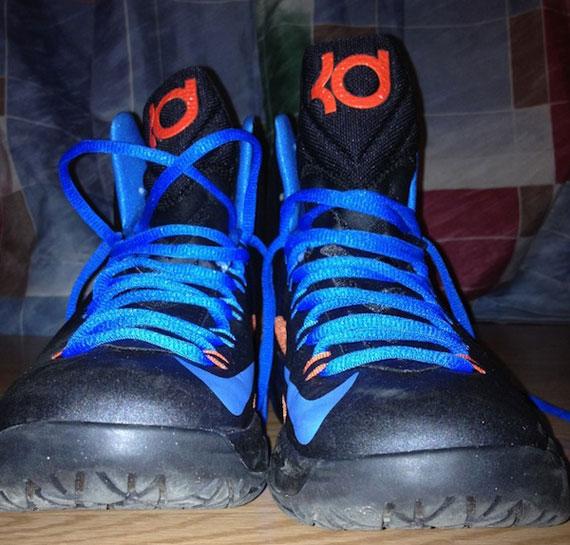 Nike Zoom KD 5 V Beige Orange Blue