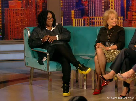 3002233a1be Whoopi Goldberg in Nike Air Foamposite One