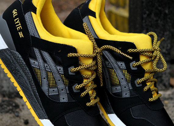 asics gel lyte iii black and yellow