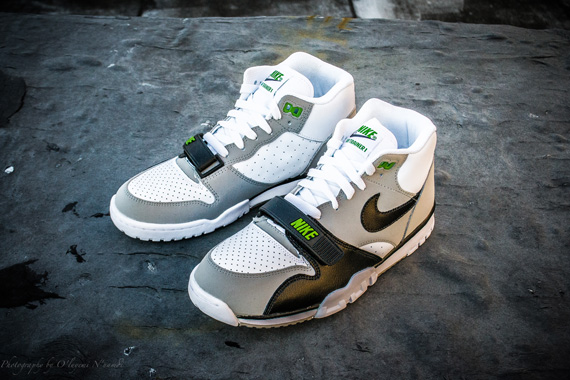 6051fdca5a8 Nike Air Trainer 1 White Black Neutral Grey Chlorophyll 50%OFF ...